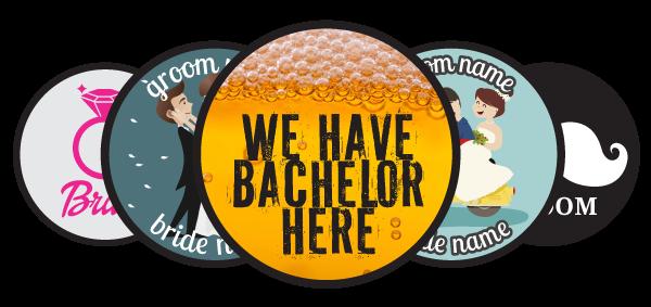 Κονκάρδες γάμου, bachelor και bachelorette