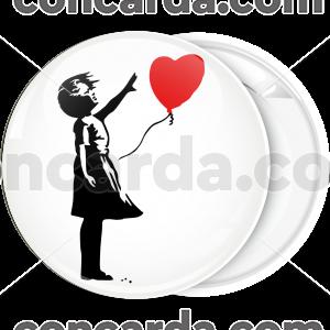 Κονκάρδα Banksy Love Balloon girl