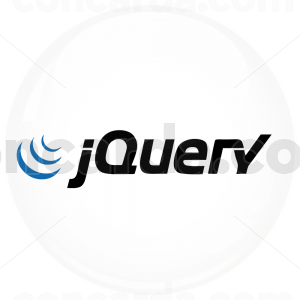 Κονκάρδα για προγραμματιστές jQuery λευκή