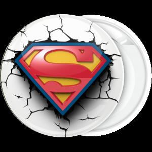 Κονκάρδα λευκή Superman classic broken