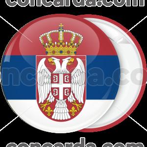 Κονκάρδα σημαία Σερβίας