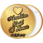 Kονκάρδα bachelorette Maid of honor χρυσή κάθετη γραφή