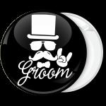 Κονκάρδα Groom Hat Hand rock μαύρη