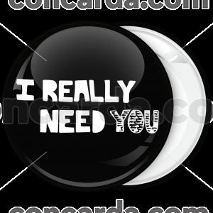 Κονκάρδα Ι really need you μαύρη