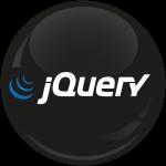 Κονκάρδα για προγραμματιστές jQuery μαύρη
