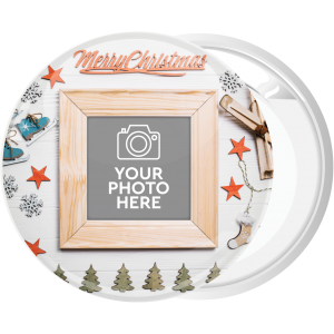Κονκάρδα Χριστουγεννιάτικο Photo booth white wood