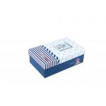 Χάρτινο ορθογώνιο κουτί για κονκάρδες ναυτικό μπλέ μικρό