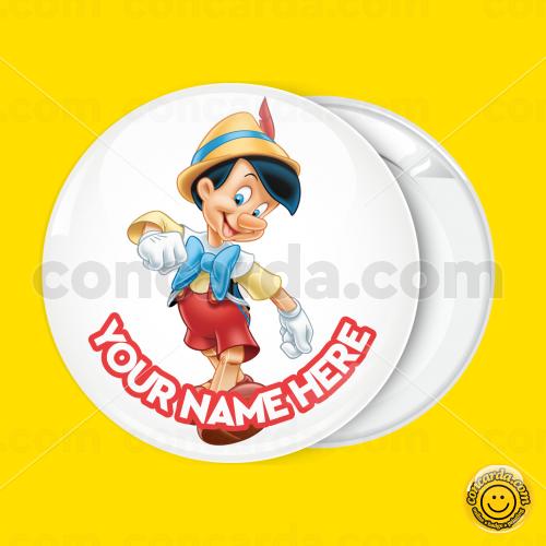 c40904363ff Pinocchio dancing badge button