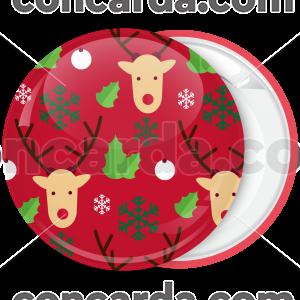 Κονκάρδα Χριστουγεννιάτικη μπάλα τάρανδροι