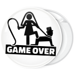 Κονκάρδα για bachelor Game Over λευκή