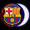 Κονκάρδα Barcelona FC δίχρωμη