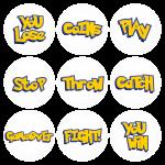 Κονκάρδες Pokemon Go words - σετ 9 τεμάχια