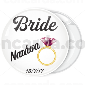 Kονκάρδα bachelorette The Bride Pink Diamond Ring