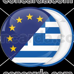 Κονκάρδα σημαία Ευρωπαϊκής ένωσης Ελλάδας
