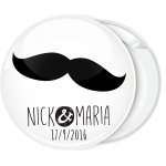 Κονκάρδα γάμου Mustache ονόματα ζευγαριού μοντέρνα γραφή