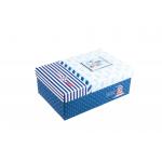 Χάρτινο ορθογώνιο κουτί για κονκάρδες ναυτικό μπλέ μεσαίο