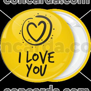 Κονκάρδα Αγίου Βαλαντίνου I Love you κίτρινη