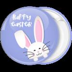 Κονκάρδα Happy Easter χαρούμενο κουνελάκι μωβ
