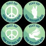 Σετ κονκάρδες Peace Day 4 τεμάχια