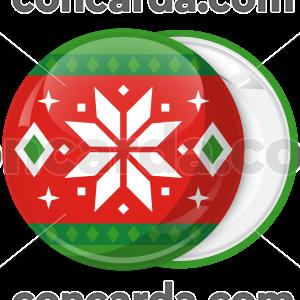 Κονκάρδα Χριστουγεννιάτικη μπάλα λευκό αστέρι