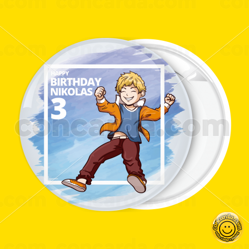 7bcc17534ef Happy Birthday kid play badge button