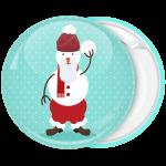 Κονκάρδα Χριστουγέννων Χιονάνθρωπος snowball