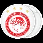 Κονκάρδα Ολυμπιακός λευκή με αστέρια