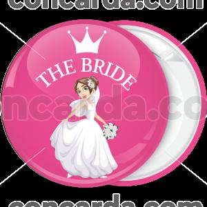 Ροζ κονκάρδα γάμου The Bride crown