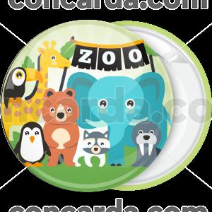 Κίτρινη κονκάρδα παιδικού Zoo Party