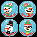 Χριστουγεννιάτικες κονκάρδες χιονάθρωποι προσωπάκια