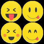 Smiley κονκάρδες fool - σετ 4 τεμάχια