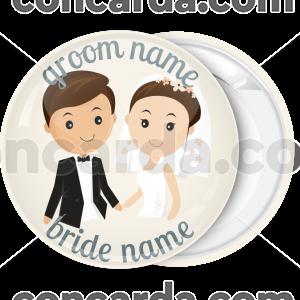 Κονκάρδα γάμου harmony couple ivory