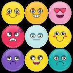 Κονκάρδες emoticons avatar collection colors σετ 9 τεμάχια