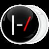 Kονκάρδα Twenty One Pilots logo ασπρόμαυρο