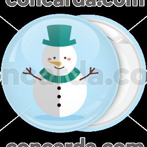 Κονκάρδα Χριστουγεννιάτικα στοιχεία Χιονάνθρωπος
