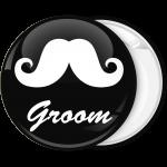 Κονκάρδα γάμου Groom Mustache μαύρη