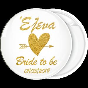 Kονκάρδα Bride to be Gold Glitter όνομα