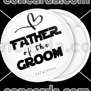 Κονκάρδα father of the groom collection flat λευκή
