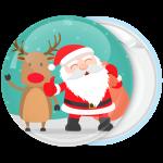 Χριστουγεννιάτικη κονκάρδα Santa with Reindeer