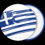 Κονκάρδα Ελληνική σημαία σε πλάγιο σχέδιο λευκή