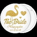 Kονκάρδα bachelorette The Bride φλαμίνγκο χρυσόσκονη