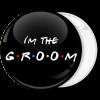 Κονκάρδα I am the groom friends edition μαύρη