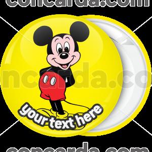 Κλασσική κονκάρδα Μίκυ Μάους κίτρινη