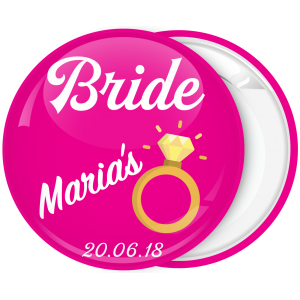 Kονκάρδα bachelorette The Bride Ring φούξια-λευκό