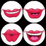 Κονκάρδα bachelor Lips σετ 4 τεμάχια
