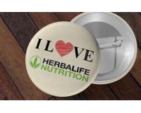 Διαφημιστικές κονκάρδες I Love Herbalife