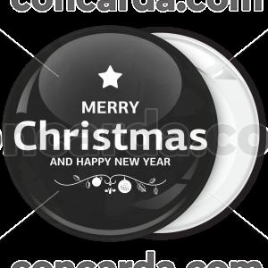 Χριστουγεννιάτικη Κονκάρδα Merry Xmas black and white