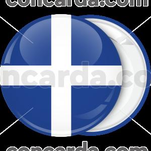 Κονκάρδα Σταυρός Ελληνικής σημαίας