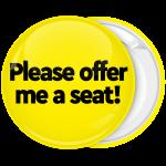 Κονκάρδα Please Offer me a seat κίτρινη