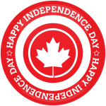 Κονκάρδα Happy independence day Canada κόκκινη